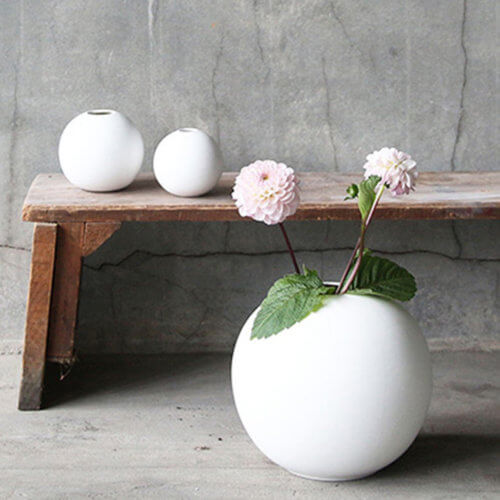 Cooee Vase Ball Weiß