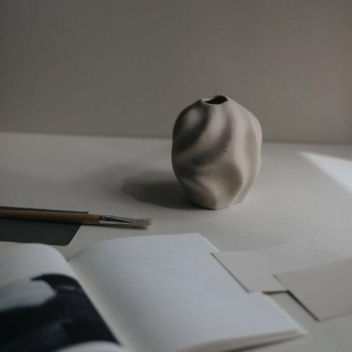Cooee Vase Drift Vanilla