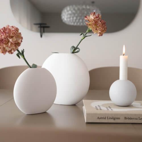 Cooee Vase Pastille Weiß S