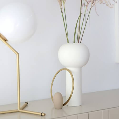 Cooee Vase Pillar Weiß L