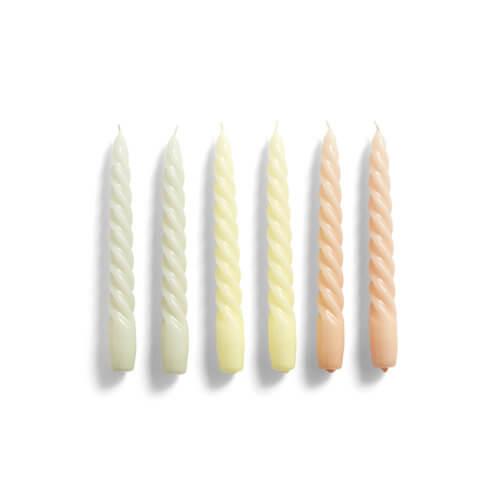 HAY Kerzenset Twist Grau-Pastell