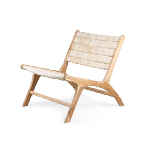 HK Living Lounge-Stuhl Natur