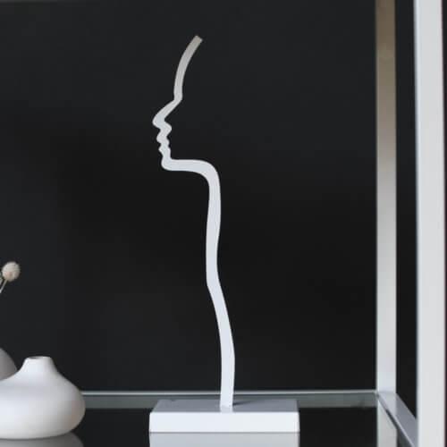 Storefactory Figur Silhuett Weiß