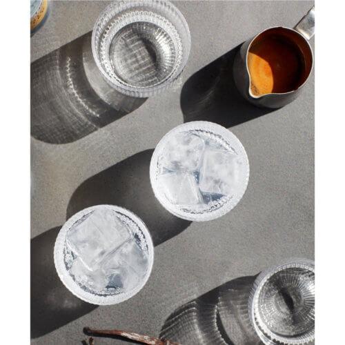 ferm Ripple Longdrink-Glas Klar
