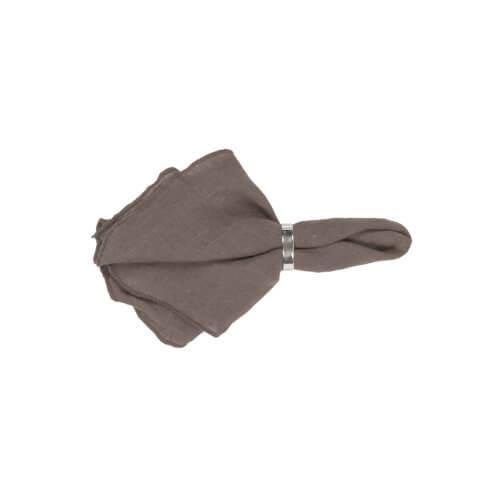 Broste Leinenserviette Gracie Chocolate