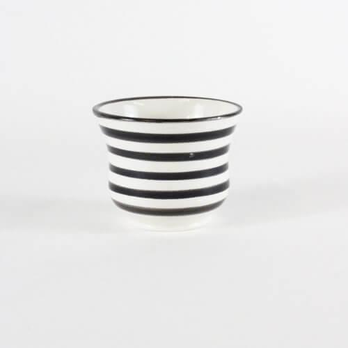 Marokkanische Tasse Streifen Schwarz-Weiß B-Ware