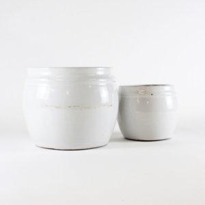 TineK Blumentopf-Set Weiß M B-Ware, komplett
