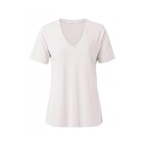 YAYA Modal-Shirt Weiß Sand