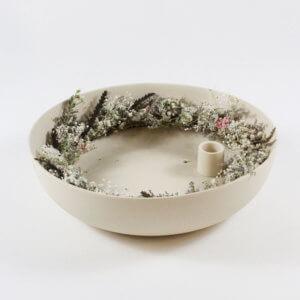 Kranz aus Trockenblumen Weiß M