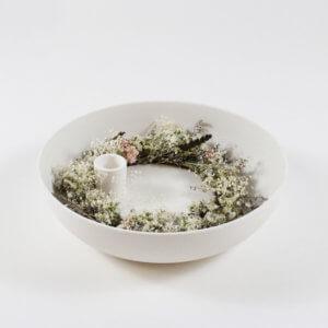 Kranz aus Trockenblumen Weiß S