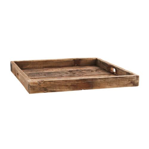 Madam Stoltz Holz-Tablett Braun