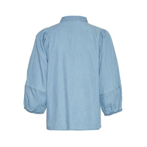 Moss Copenhagen Tencel-Bluse Blue