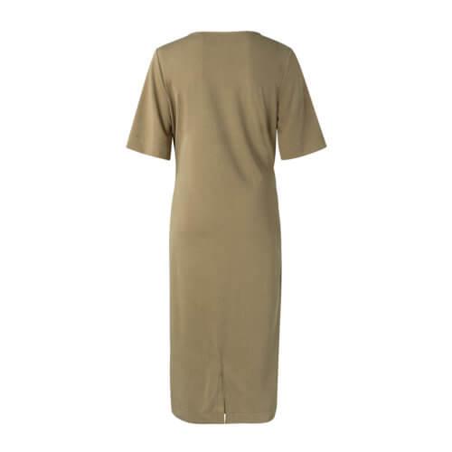 YAYA Modal Kleid Khaki mit Gürtel
