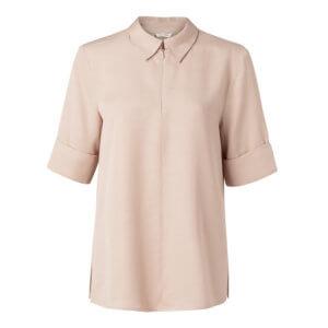 YAYA Shirt Rosé mit Reißverschluss