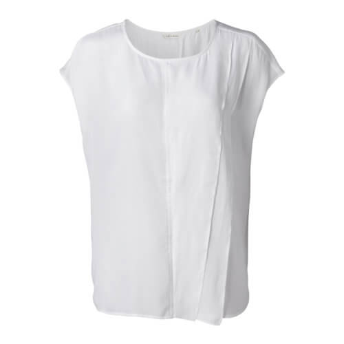 YAYA Shirt mit Raffung Weiß