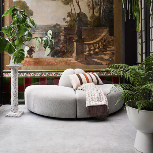 HK Living Metall-Blumentopf Weiß