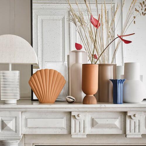 HK Living Vase Matt Weiß S