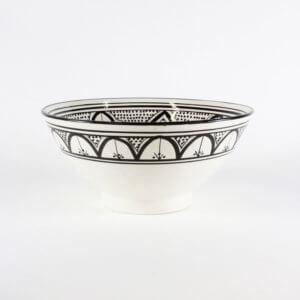 Marokkanische Salatschale Schwarz Weiß B-Ware ca. Ø 30 cm