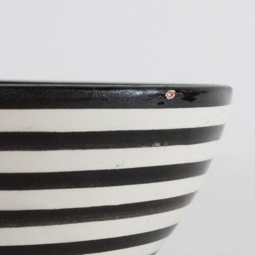 Marokkanische Schale Streifen Schwarz-Weiß B-Ware, Detail 2