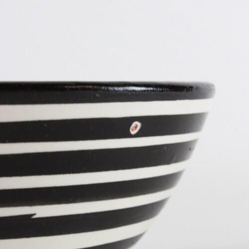 Marokkanische Schale Streifen Schwarz-Weiß B-Ware, Detail