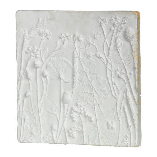 Wand-Dekoration Gips Weiß 2er-Set Tafel einzeln seitlich