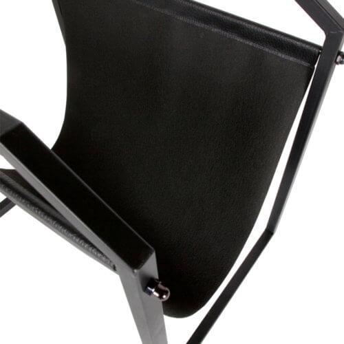 Zeta Zeitschriftenständer Schwarz Metall Detail