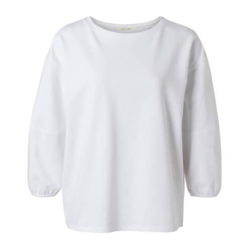 YAYA Ballonärmel-Shirt Weiß
