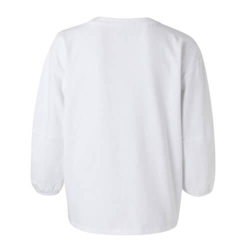 YAYA Ballonärmel-Shirt Weiß Rückseite