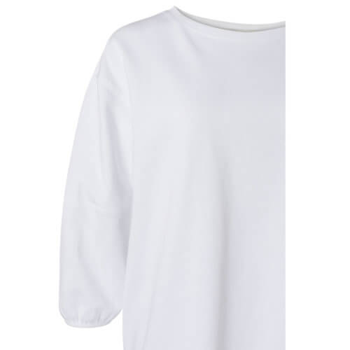 YAYA Ballonärmel-Shirt Weiß Detail