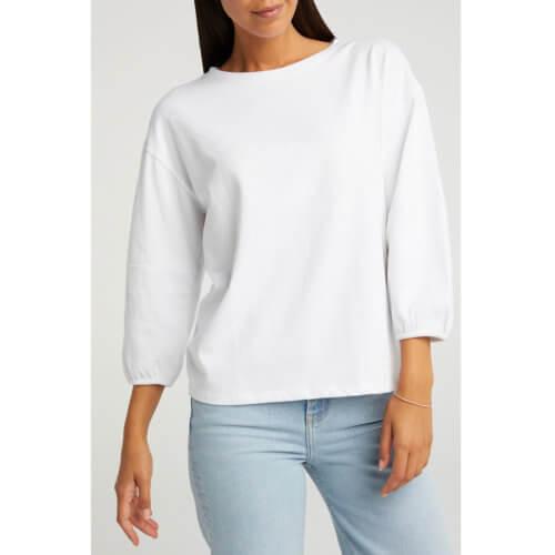 YAYA Ballonärmel-Shirt Weiß Model