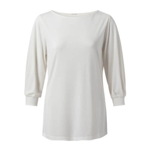 YAYA Modal-Halbarmshirt Weiß