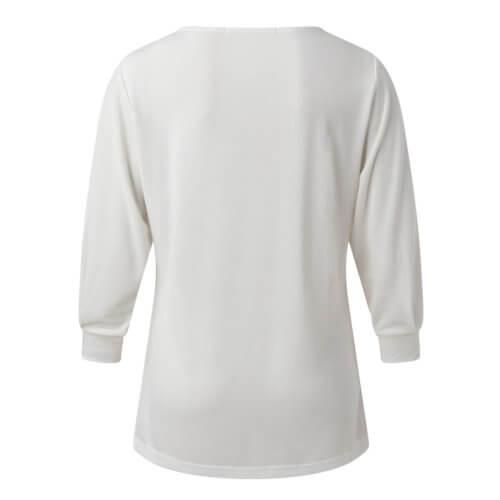 YAYA Modal-Halbarmshirt Weiß Rückseite