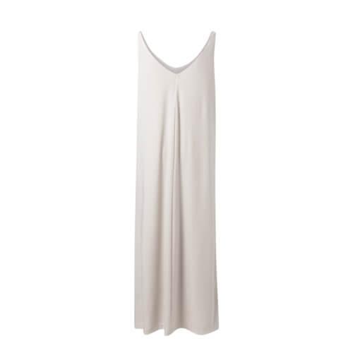 YAYA Jersey-Maxikleid Off-Weiß