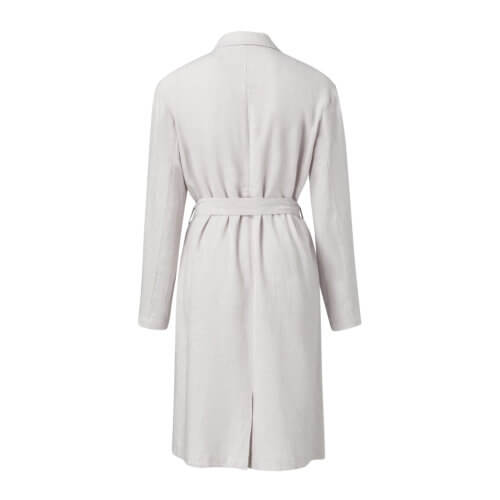 YAYA Leinen-Mantel Off-Weiß