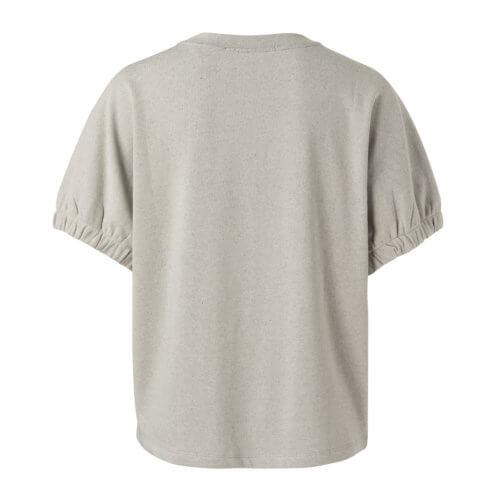 YAYA Elastischer Manschettenpullover Grau Rückseite