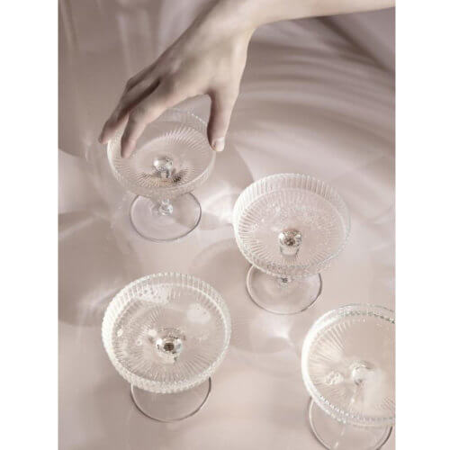ferm Ripple Champagnerschale Klar Detail