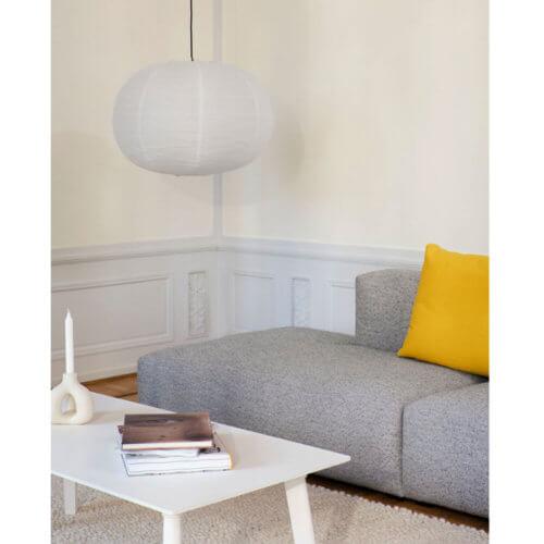 HAY Papier-Lampenschirm Ellipse Weiß