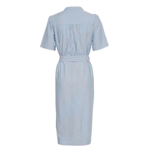 Moss Copenhagen Viskose-Kleid Streifen Rückansicht