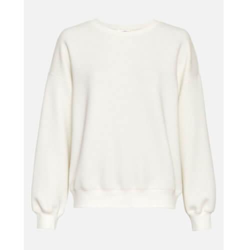 Moss Copenhagen Viskose-Pullover Weiß