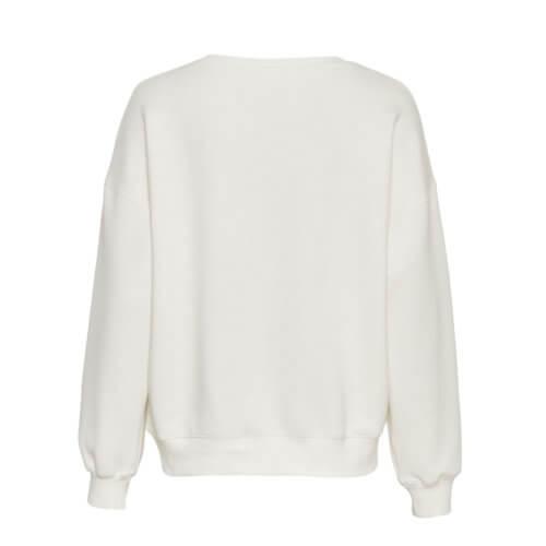 Moss Copenhagen Viskose-Pullover Weiß Rückansicht