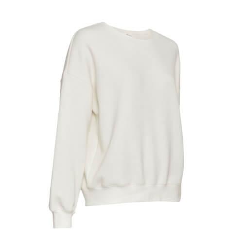Moss Copenhagen Viskose-Pullover Weiß Detail