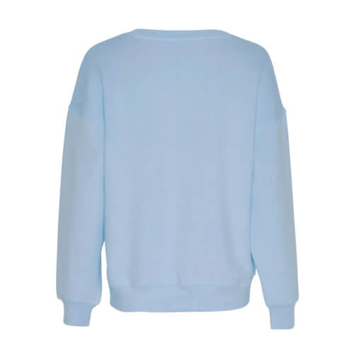 Moss Copenhagen Viskose-Pullover Hellblau Rückansicht