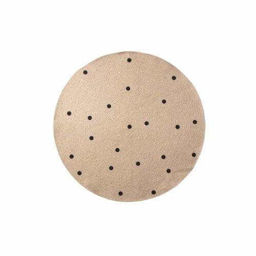 ferm Teppich Black Dots S