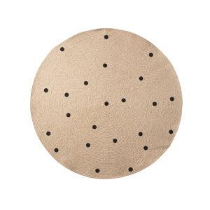 ferm Teppich Black Dots L