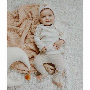 Hejlenki Henley Sprinkle-Legging Beige Melange