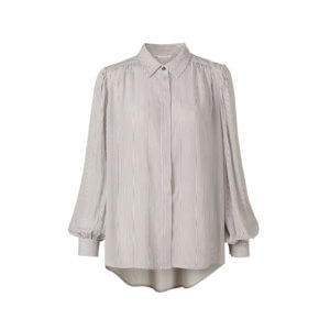 YAYA Viskose Bluse mit Streifenprint
