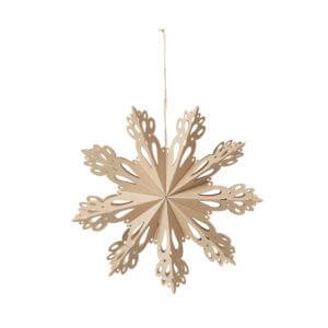 Broste Papierstern Snowflake Natur M