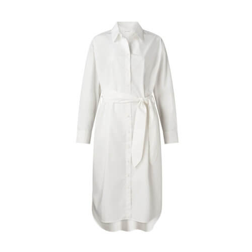 YAYA Hemdkleid Midi Weiß mit Gürtel