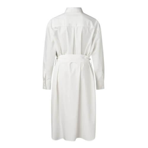 YAYA Hemdkleid Midi Weiß mit Gürtel Rückansicht
