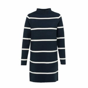 YAYA Viskose-Kleid mit Streifen